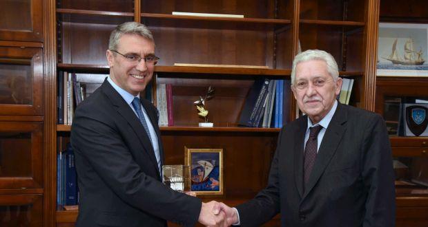 Συνάντηση του ΥΝΑΝΠ Φ. Κουβέλη με τον πρέσβη της Τουρκίας στην Ελλάδα