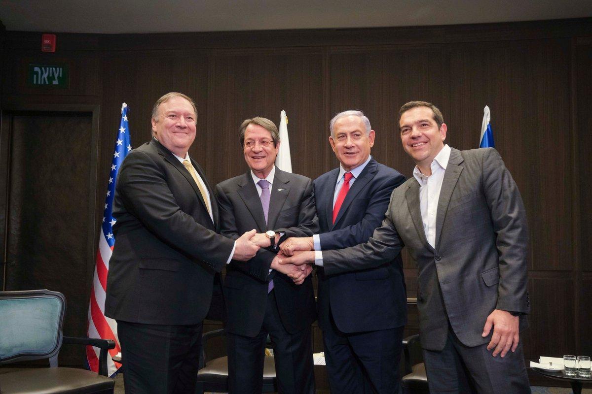 Tριμερής στο Ισραήλ – Κοινή δήλωση καταδικάζει τις προκλήσεις στην Ανατολική Μεσόγειο (βίντεο)