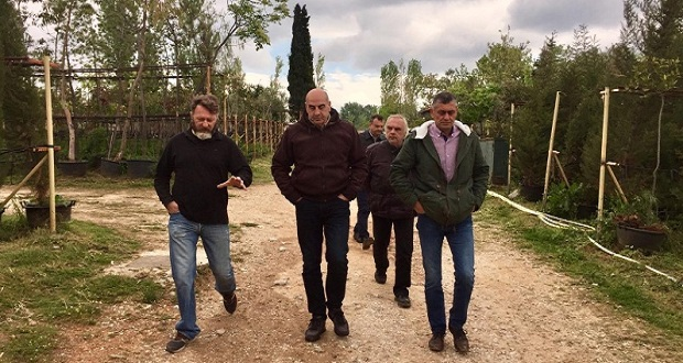 Επίσκεψη του υποψηφίου δημάρχου Αθηναίων Γιώργου Βουλγαράκη στη Διεύθυνση Πρασίνου και Αστικής Πανίδας του Δήμου Αθηναίων