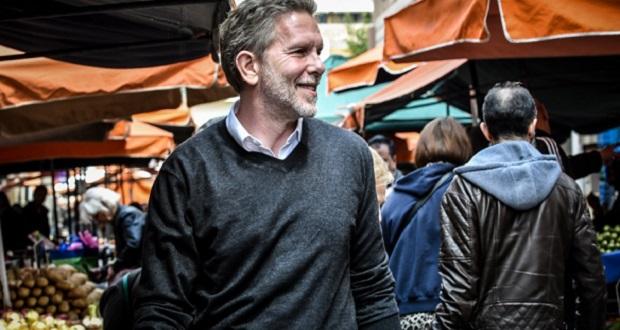 Επίσκεψη Παύλου Γερουλάνου στη Λαϊκή Αγορά της Πλατείας Κολιάτσου στα Πατήσια