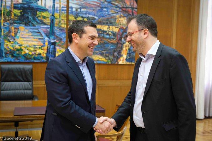 Συνάντηση Αλ. Τσίπρα με τον Θ. Θεοχαρόπουλο