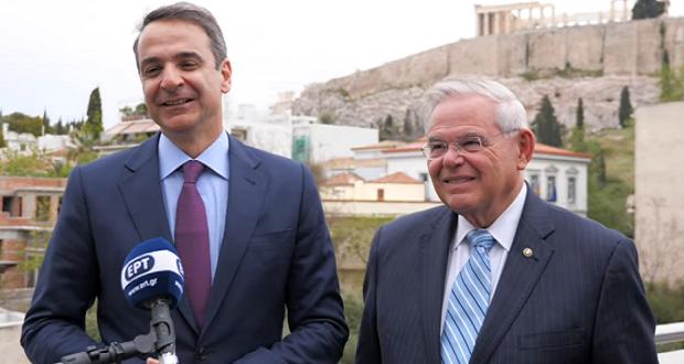 Δήλωση του προέδρου της ΝΔ κ. Κ. Μητσοτάκη μετά τη συνάντησή του με τον αμερικανό Γερουσιαστή Μπομπ Μενέντεζ