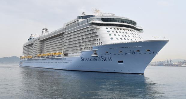"""Το """"SPECTRUM OF THE SEAS"""" στο λιμάνι του Πειραιά (βίντεο-εικόνες)"""