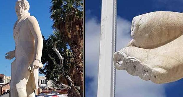 Ναύπλιο: Έκοψαν και έκλεψαν τα δάχτυλα από το άγαλμα του Καποδίστρια
