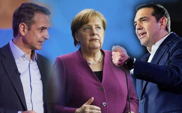 Γιατί δεν πάτε, Αλέξη, Κυριάκο και Φώφη, στη Μέρκελ να της ζητήσετε εδώ και τώρα τις γερμανικές αποζημιώσεις;