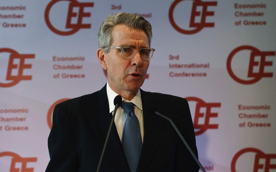 Τζ. Πάιατ: Η Αμερική επενδύει ισχυρά στην οικονομική ανάκαμψη της Ελλάδας