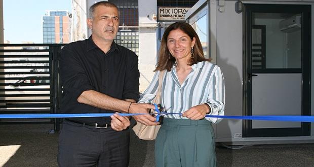 Ο δήμαρχος Πειραιά, Γ. Μώραλης, εγκαινίασε ένα νέο κτίριο στις πρώην εγκαταστάσεις της Καπνοβιομηχανίας «Παπαστράτος»