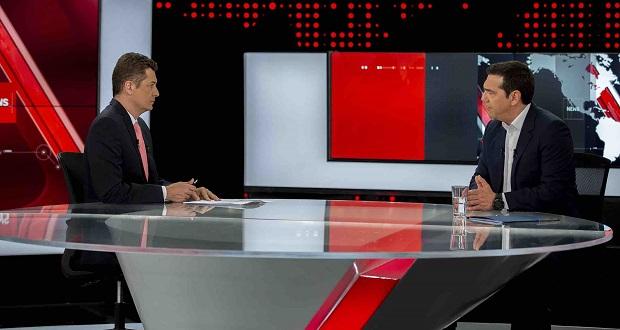 Συνέντευξη του πρωθυπουργού στο δελτίο Ειδήσεων του Alpha
