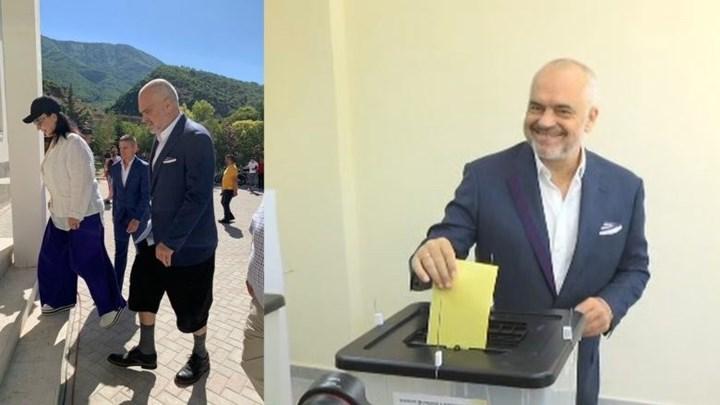 Το περίεργο ντύσιμο του Ράμα… έκλεψε την παράσταση στις δημοτικές εκλογές της Αλβανίας