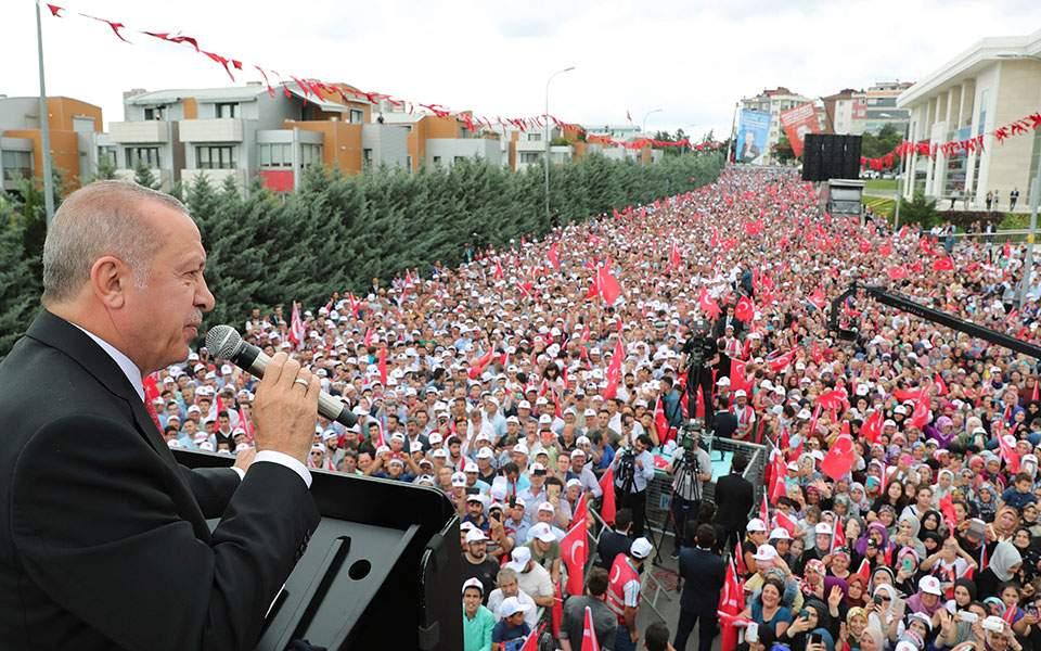 Ερντογάν: Mε τo αποτέλεσμα στην Κωνσταντινούπολη χάρηκαν πιο πολύ οι Ελληνες