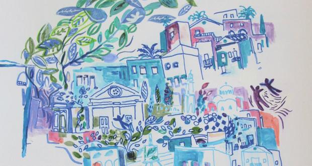 """Έκθεση ζωγραφικής """"Οι ρίζες του βάζου"""" της εικαστικού Caroline Vyzas που ονειρεύεται την Ελλάδα στην ΓΚΑΛΕΡΙ ΧΑΤΖΗΣ"""