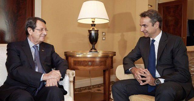 Κύπρος: «Απόλυτη ευθυγράμμιση» Προέδρου Αναστασιάδη και Κυρ. Μητσοτάκη