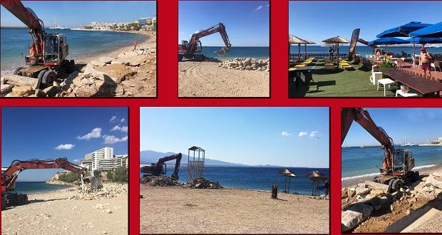Εργασίες καθαρισμού στις παραλίες Φρεαττύδα και Βοτσαλάκια από τον Δήμο Πειραιά