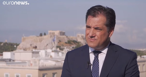 Ο Άδωνις Γεωργιάδης στο Euronews: Στην οικονομία μετράει το πόσο γρήγορα θα πράξεις (βίντεο)
