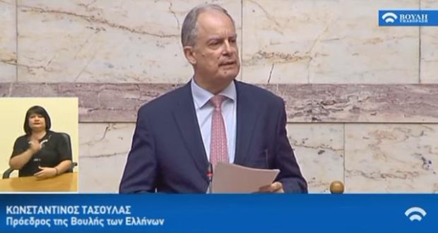 Πρόεδρος της Βουλής με 283 ψήφους ο Κώστας Τασούλας