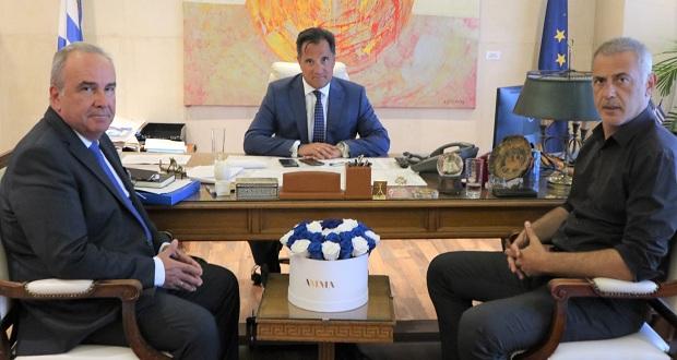 Συνάντηση Υπουργού Ανάπτυξης και Επενδύσεων, Άδ. Γεωργιάδη, με τον δήμαρχο Πειραιά, Γ. Μώραλη