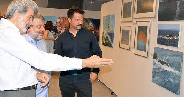 Πλήθος κόσμου στα εγκαίνια της Έκθεσης Ζωγραφικής «ΚΑΡΑΒΙΑ» στον Κέφαλο της Κεφαλονιάς (εικόνες)