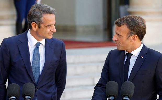 Τηλεφωνική επικοινωνία του Πρωθυπουργού Κυριάκου Μητσοτάκη με τον Πρόεδρο της Γαλλίας Emmanuel Macron