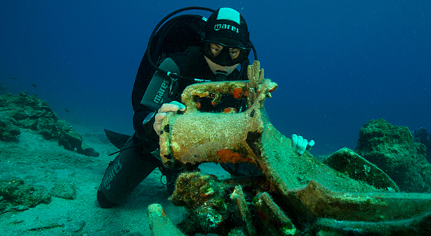Ενάλια αρχαιολογική έρευνα στη νήσο Λέβιθα (φωτογραφίες)