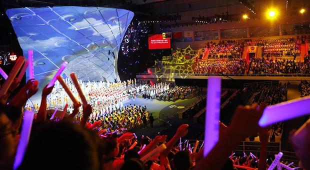 Φαντασμαγορική τελετή έναρξης του Παγκοσμίου Κυπέλλου Μπάσκετ στην Κίνα (φωτογραφίες)