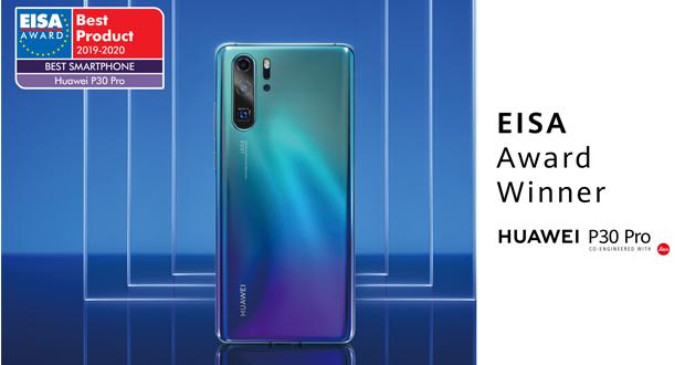 Η HUAWEI κατέκτησε το βραβείο «Best Smartphone of the Year» της EISA για δεύτερη συνεχόμενη χρονιά με το P30 Pro