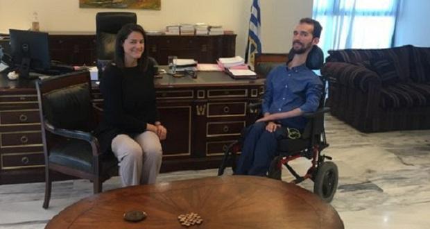 Συνάντηση της υπουργού Παιδείας και Θρησκευμάτων, κ. Ν. Κεραμέως, με τον ευρωβουλευτή της ΝΔ, κ. Στ. Κυμπουρόπουλο