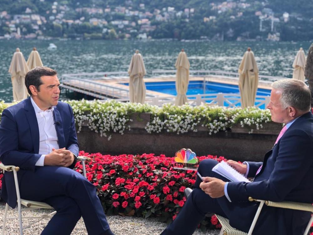 Αλ. Τσίπρας στο CNBC: Ο κ. Μητσοτάκης θέλει να διαπραγματευθεί για κάτι που πετύχαμε χωρίς διαπραγματεύσεις