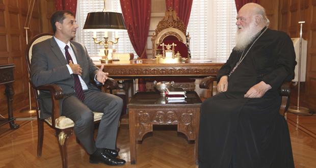 Συνάντηση του Αρχιεπισκόπου Αθηνών και Πάσης Ελλάδος κ.κ. Ιερώνυμου με τον υπουργό Τουρισμού κ. Θεοχάρη