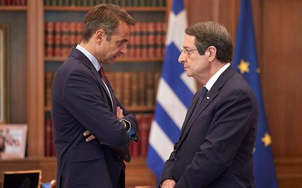 Κοινή γραμμή για την αντιμετώπιση των τουρκικών ενεργειών συμφώνησαν Μητσοτάκης – Αναστασιάδης