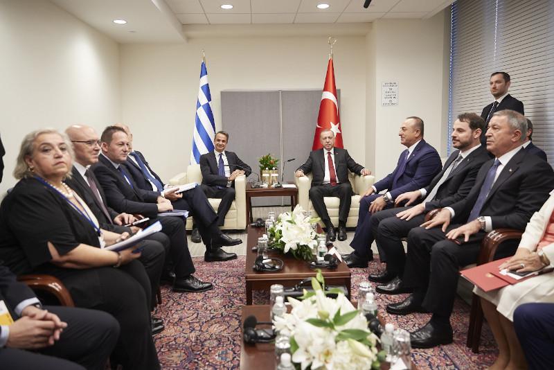 Ολοκληρώθηκε η συνάντηση Μητσοτάκη με Ερντογάν στη Ν. Υόρκη