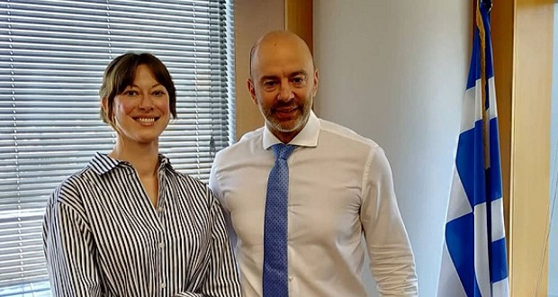 Συζήτηση του Υφυπουργού Ψηφιακής Διακυβέρνησης, Γρηγόρη Ζαριφόπουλου, με την εκπρόσωπο της Open Government Partnership, Helen Turek