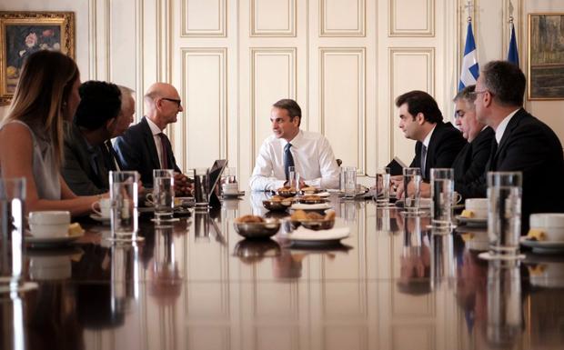 Συναντήσεις Κυρ. Μητσοτάκη με εκπροσώπους εταιρειών τηλεπικοινωνιών και ενέργειας