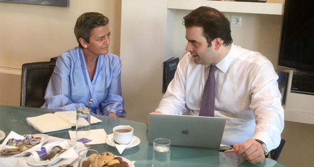 Συνάντηση Πιερρακάκη Vestager για την ψηφιακή διακυβέρνηση
