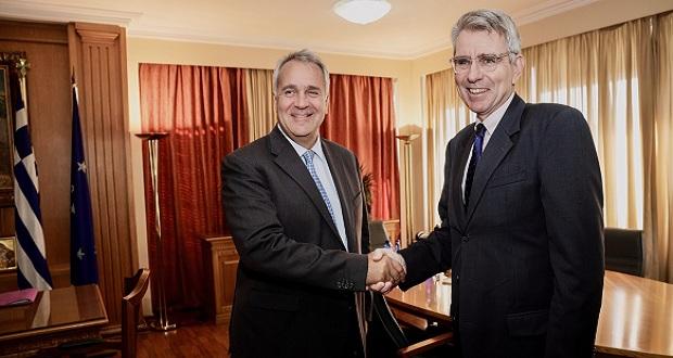 Συνάντηση του Μ. Βορίδη με τον πρέσβη των ΗΠΑ στην Ελλάδα, Τζέφρι Πάιατ