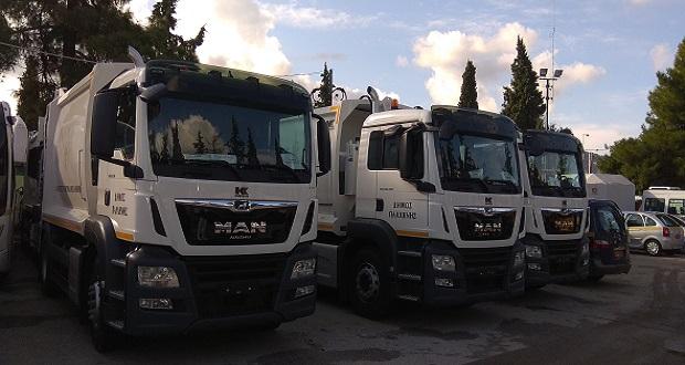 Νέα απορριμματοφόρα και οχήματα απέκτησε ο Δήμος Παλλήνης
