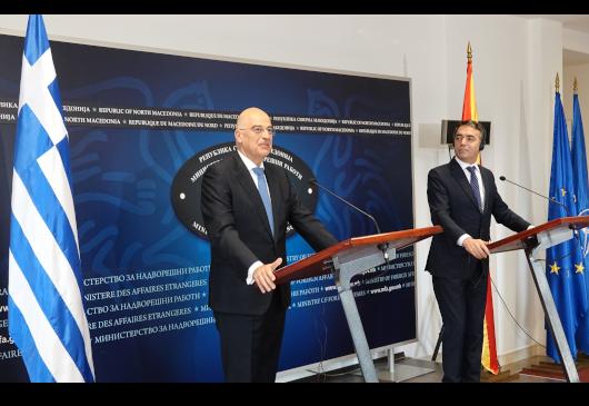 Βόρεια Μακεδονία: Την υποστήριξη της Ελλάδας στην ευρωπαϊκή προοπτική των Δ. Βαλκανίων, υπογράμμισε ο Ν. Δένδιας
