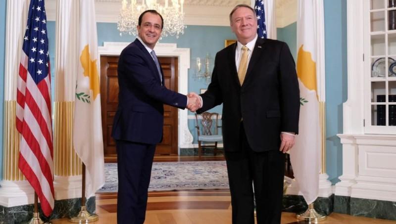 Αναβάθμιση σχέσεων ΗΠΑ-Κύπρου με δέσμευση Πομπέο για Μεσόγειο: Τα κέρδη Χριστοδουλίδη