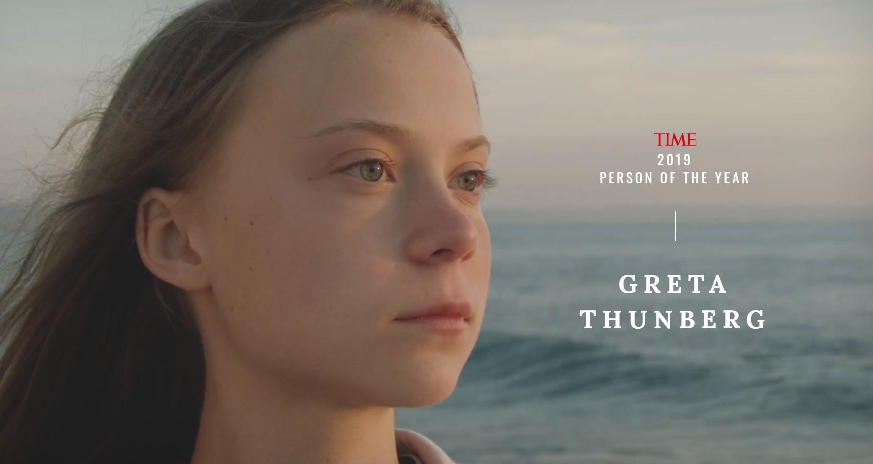 Γκρέτα Τούνμπεργκ: «Πρόσωπο της χρονιάς» 2019 για το περιοδικό Time