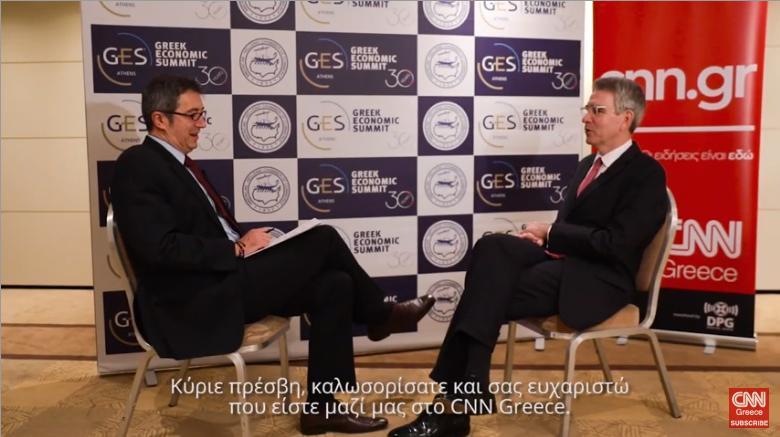 Αμερικανός πρέσβης στο CNN Greece: Προκλητική η συμφωνία Τουρκίας – Λιβύης για την μεταξύ τους ΑΟΖ