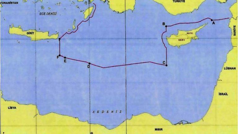 Στη δημοσιότητα ο προκλητικός χάρτης της συμφωνίας Τουρκίας-Λιβύης: Εξαφάνισαν το Καστελόριζο