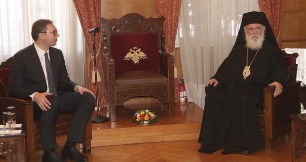 Επίσκεψη του προέδρου της Σερβίας Αλεξάνταρ Βούτσιτς στον Αρχιεπίσκοπο Ιερώνυμο