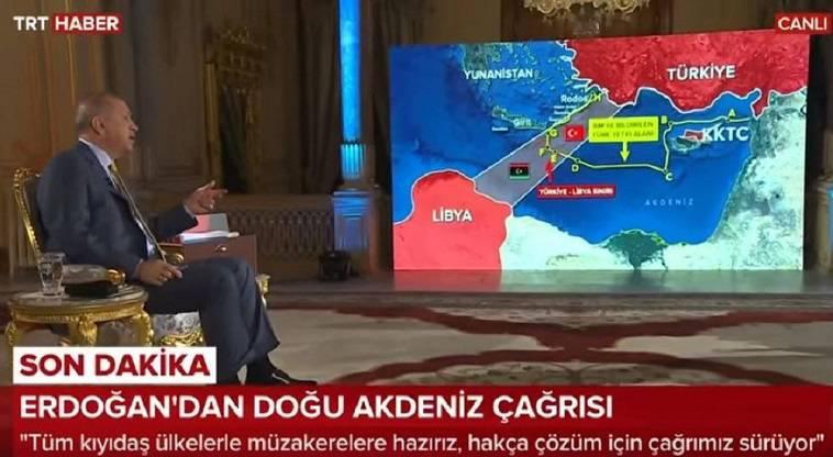 Τα όνειρα Ερντογάν για Αν. Μεσόγειο… Μέχρι Κρήτη και Ρόδο (video)