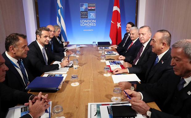 Ολοκληρώθηκε το ραντεβού Μητσοτάκη – Ερντογάν μετά από 1:30 ώρα (video)