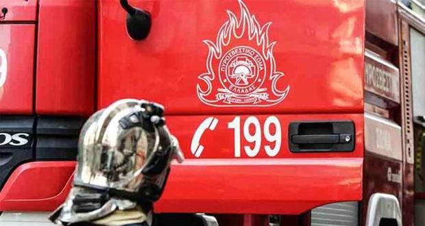 Πυρκαγιά σε αποθήκη στο Αιγάλεω