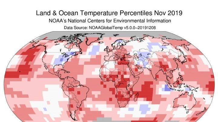 ΗΠΑ: Ο Νοέμβριος του 2019, ο 2ος θερμότερος των τελευταίων 140 ετών