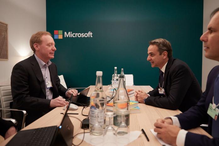 Μητσοτάκη και Brad Smith της Microsoft – Τι συζήτησαν στο Νταβός