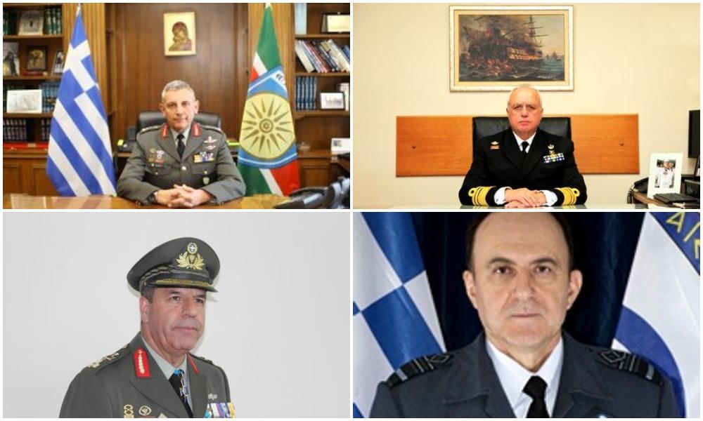 Δείτε τη νέα ηγεσία των Ενόπλων Δυνάμεων – Τα βιογραφικά των νέων αρχηγών