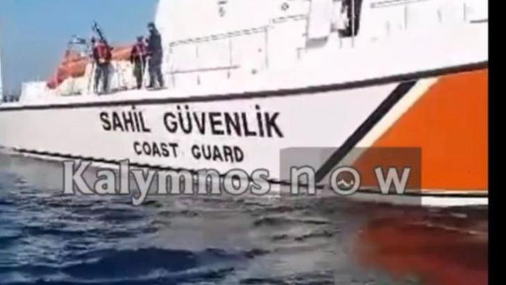 Νέο video ντοκουμέντο: Τούρκοι λιμενικοί κλέβουν παραγάδι από Καλύμνιους ψαράδες