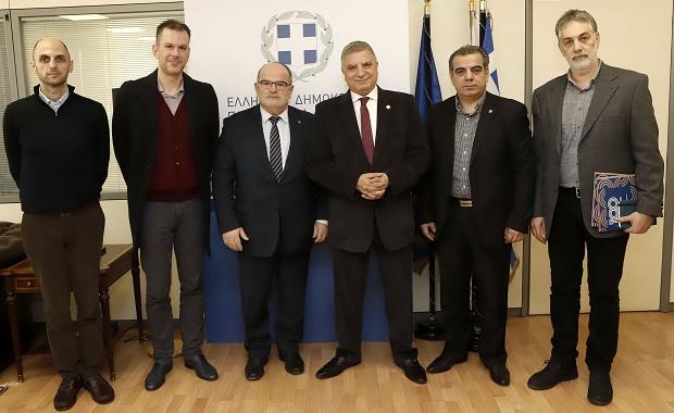 Συνάντηση του Περιφερειάρχη Αττικής Γ. Πατούλη με τον Πρόεδρο της ΓΣΕΒΕΕ Γ. Καββαθά
