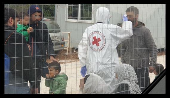 Κλιμάκιο του Ελληνικού Ερυθρού Σταυρού στη Μαλακάσα